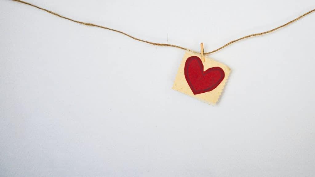 Guirlande avec un coeur